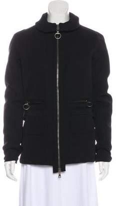 Prada Sport Mock Neck Zip-Up Jacket