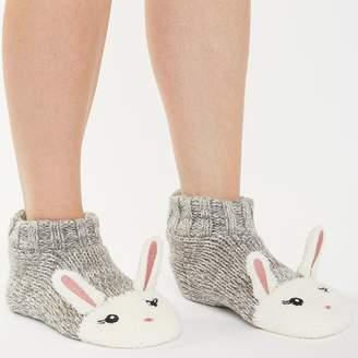 eaf0770dd83d Brave Soul Womens Clare Bunny Slipper Socks Grey