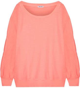 Splendid Pigment Cutout Cotton-jersey Sweatshirt - Pink