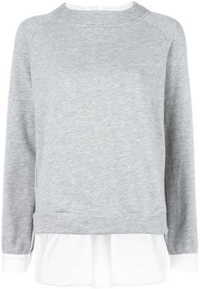 Twin-Set contrast layer sweatshirt $124.40 thestylecure.com