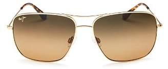 Maui Jim Men's Cook Pines Polarized Brow Bar Aviator Sunglasses, 62mm