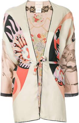 Erika Cavallini printed kimono jacket