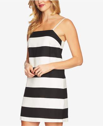 CeCe Striped Spaghetti-Strap Dress