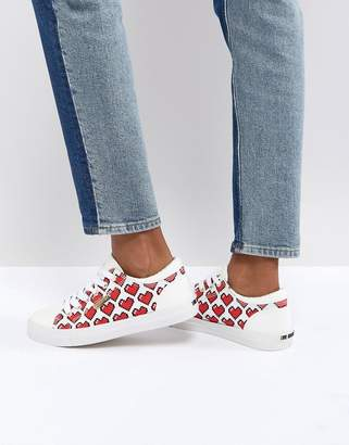 Love Moschino Pixel Heart Pump Sneaker