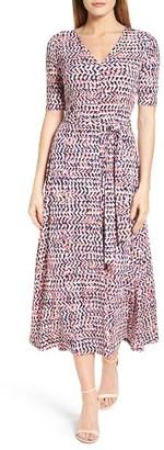 Women's Chaus Print Tie Waist Midi Dress $99 thestylecure.com
