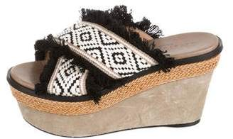 Barbara Bui Platform Wedge Sandals`