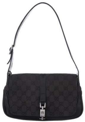 Gucci GG Canvas Jackie Flap Bag Black GG Canvas Jackie Flap Bag