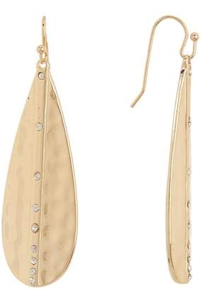 14th & Union Crystal Accented Textured Teardrop Dangle Earrings