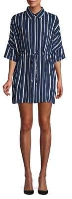 Lord & Taylor Design Lab Striped Shirt Dress