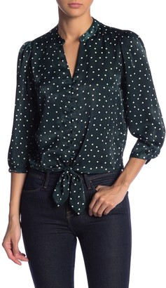 Elodie Button Down Front Tie Blouse