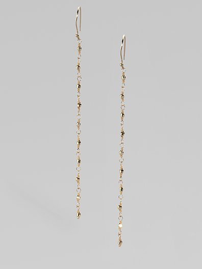 Mizuki 14K Yellow Gold Chain Earrings