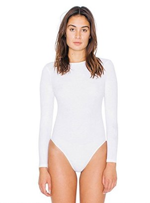 American Apparel Women's 2x2 Rib Long Sleeve Cutout Bodysuit $38 thestylecure.com