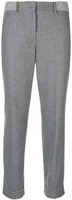 Peserico striped tapered trousers
