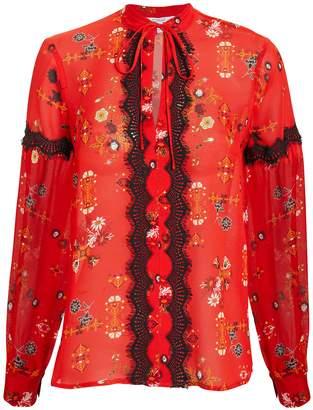 Derek Lam 10 Crosby Floral Blouse