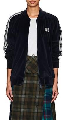 Needles Women's Striped Cotton-Blend Velour Track Jacket