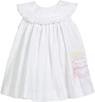 Luli & Me Birthday Cake Embroidered Dress, Size 12-24 Months