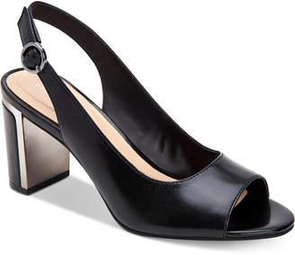 Alfani Women Step 'N Flex Florraa Slingback Peep-Toe Dress Sandals, Women Shoes