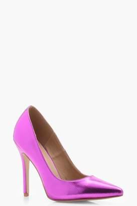 boohoo Metallic Court Shoes