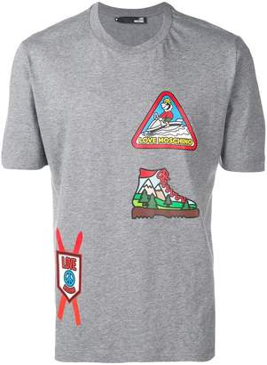 Love Moschino skiing patterned T-shirt