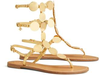 07133809019 Tory Burch PATOS METALLIC DISK GLADIATOR SANDAL