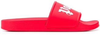 Palm Angels branded toe straps slides