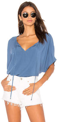 Michael Stars Peasant Top in Blue $118 thestylecure.com