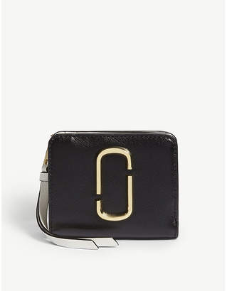 Marc Jacobs Black and Gold Mini Leather Companion Purse