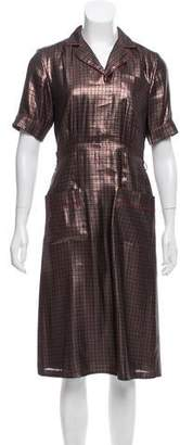 Marc Jacobs From the 2013 Collection Herringbone Short Sleeve Midi Dress