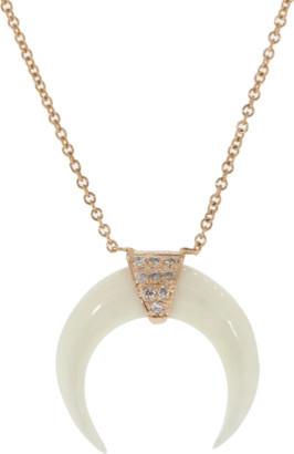 Jacquie Aiche Mini Bone Double Horn Necklace