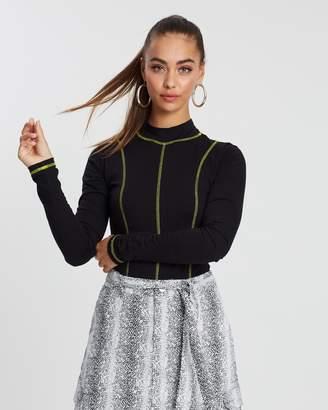 Missguided Contrast Stitch Neon Bodysuit