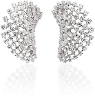 Yeprem 18K White Gold Diamond Ear Cuffs