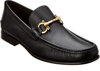 Salvatore Ferragamo Fiordi Gancio Bit Leather Moccasin