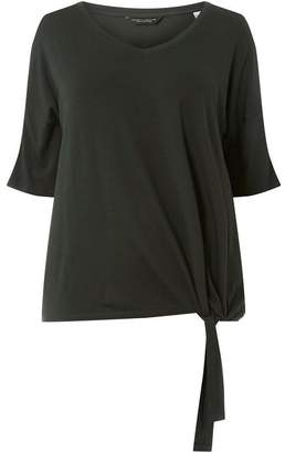 Dorothy Perkins Womens **DP Curve Green Knot Front Top