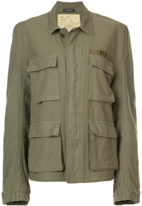 R13 fleece lined military jacket