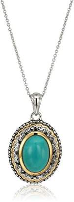 Ss Mexican Turquoise Pendant Necklace