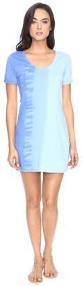 Michael Stars Riverwash Short Sleeve Dress with Back Twist Women's Dress