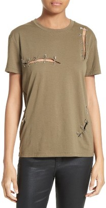 Women's The Kooples Safety Pin Tee $135 thestylecure.com