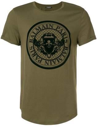 Balmain Monnaie logo T-shirt