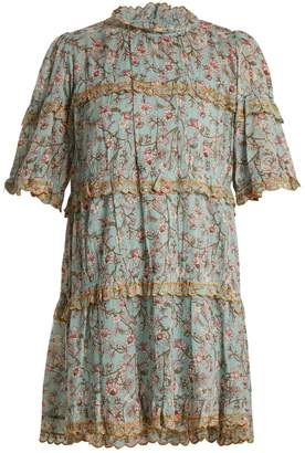 Etoile Isabel Marant Maiwenn floral-print ruffle-trimmed cotton dress