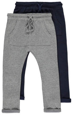 George Pouch Front Joggers 2 Pack