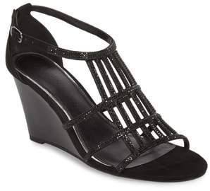 Athena Alexander Hampton Crystal Embellished Wedge Sandal