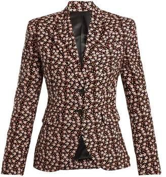 Eckhaus Latta Floral Print Wool Blend Corduroy Blazer - Womens - Multi