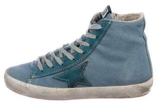 Golden Goose Denim High-Top Sneakers