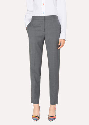 Paul Smith A Suit To Travel In - Women's Classic-Fit Grey Marl Wool Pants