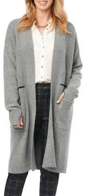 Democracy Thumb-Hole Knitted Longline Cardigan