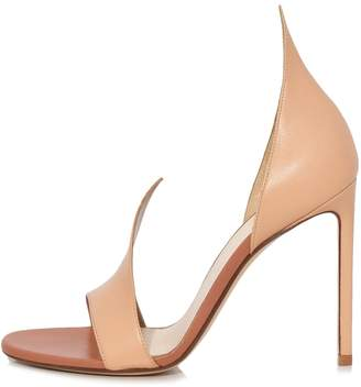 Francesco Russo Flame Sandal in Nude