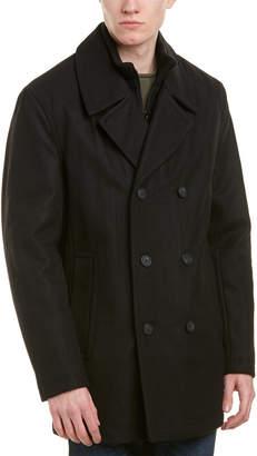 Andrew Marc Burnett Wool-Blend Coat