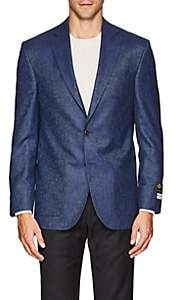 Piattelli MEN'S CAPRI SILK-CASHMERE TWO-BUTTON SPORTCOAT-BLUE SIZE 40 R