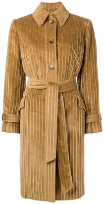 Alberto Biani corduroy single breasted coat