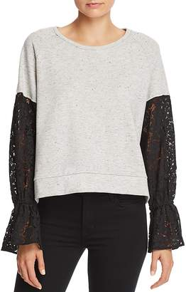 Generation Love Charlotte Lace-Sleeve Sweatshirt